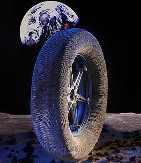La nueva rueda ultraresistente. Goodyear / NASA