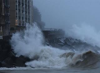 Temporal atlántico de lluvia y viento