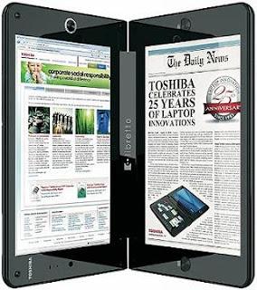 Toshiba lanza un miniportátil con doble pantalla