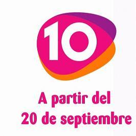 MTV en TDT llega el próximo 16 de Septiembre, y La 10 el 20 de Septiembre