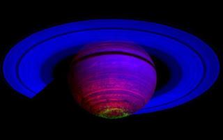 Fotografía de Saturno tomada por la nave espacial Cassini. NASA/JPL/University of Leicester