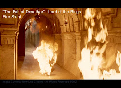 I was the burning king in Lord of the Rings