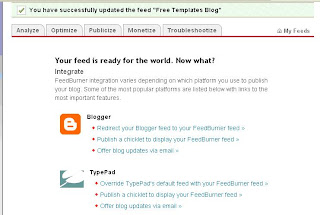 cara memasang widgets feedburner artikel berlangganan