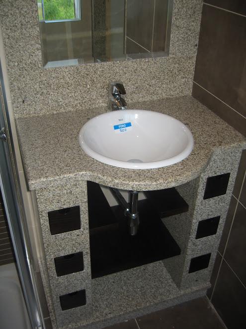 mueble de baño de granito silvestre