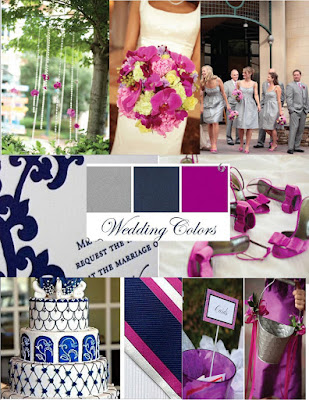 Wedding Colors Grey Navy Orchid Purple
