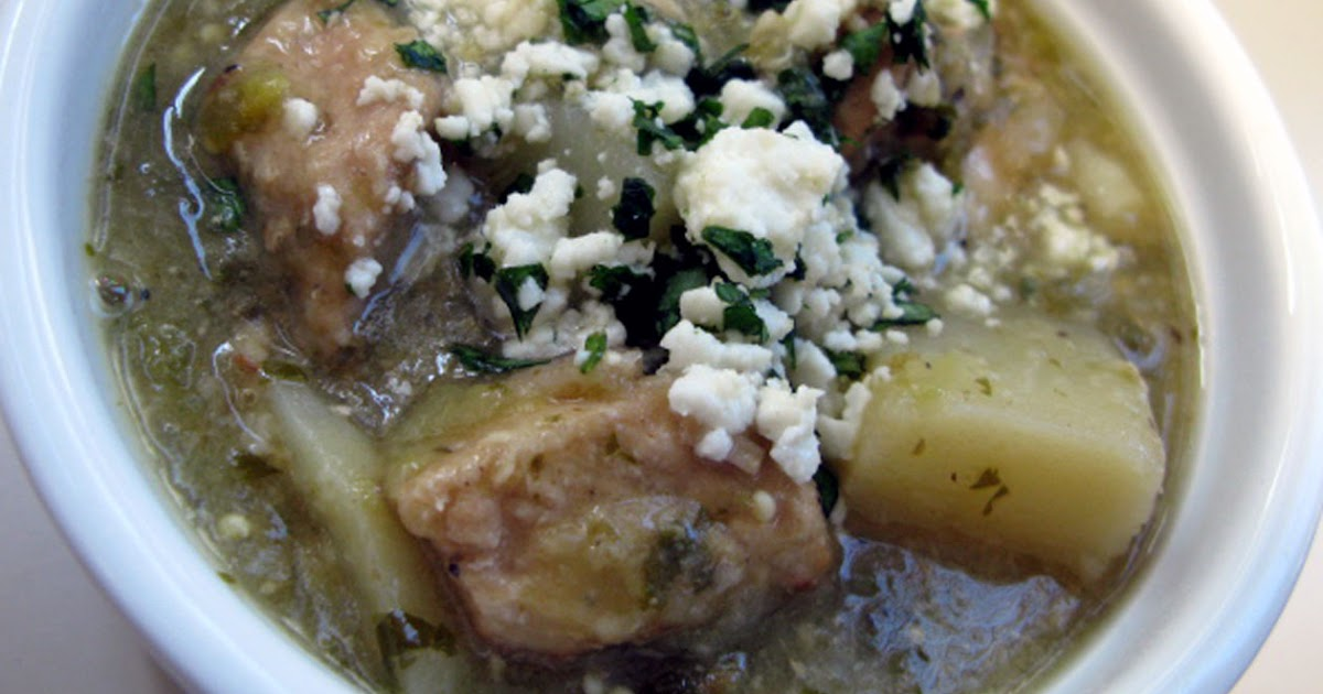 All that and she cooks, too: Chile verde with potatoes