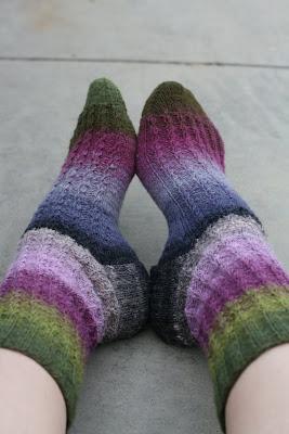 ABC Knitting Patterns - Diagonal Knit Noro Yarn Sweater.