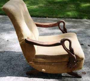 Gooseneck Rocking Chair for Sale http://myfavoriteandmybest.blogspot.com/2009/07/paint-everything-white-and-call-it-day.html
