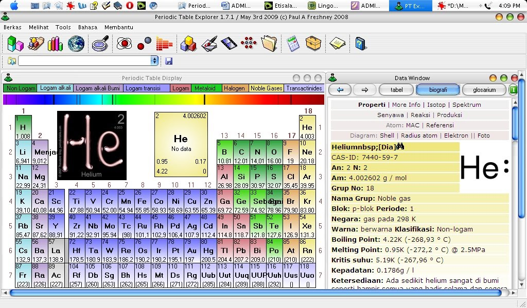 Tabel Periodik Unsur Kimia : Versi Bahasa Indonesia Periodic Table