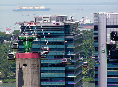 Harbour Ville at cable car station in Harbour Front, Singapore