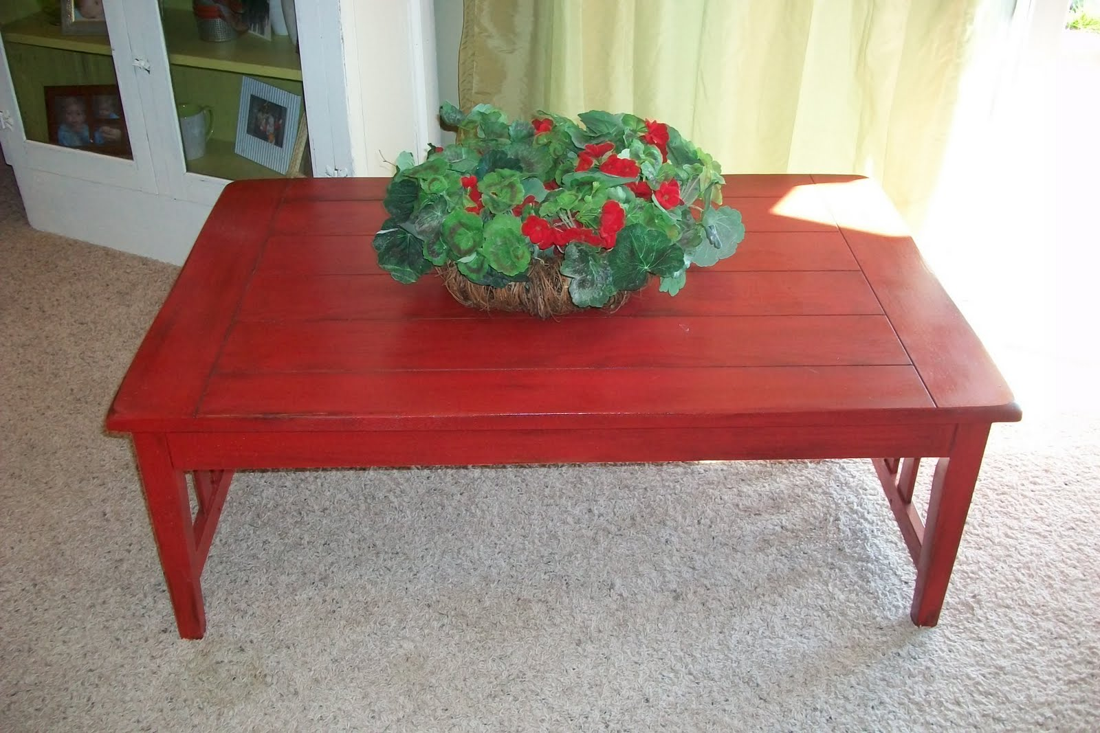 Ary anns place red mission style coffee table sold red mission style coffee table sold geotapseo Image collections
