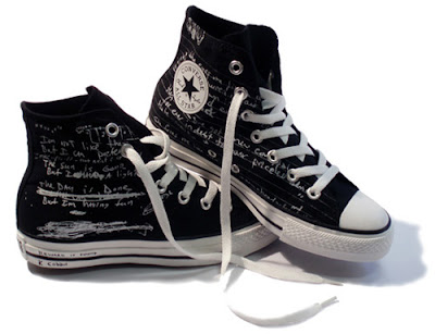 Limited Edition Chuck Taylor high tops in black.