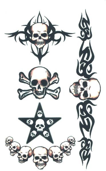 temporary tattoo design tribal skull temporary tattoos. Black Bedroom Furniture Sets. Home Design Ideas