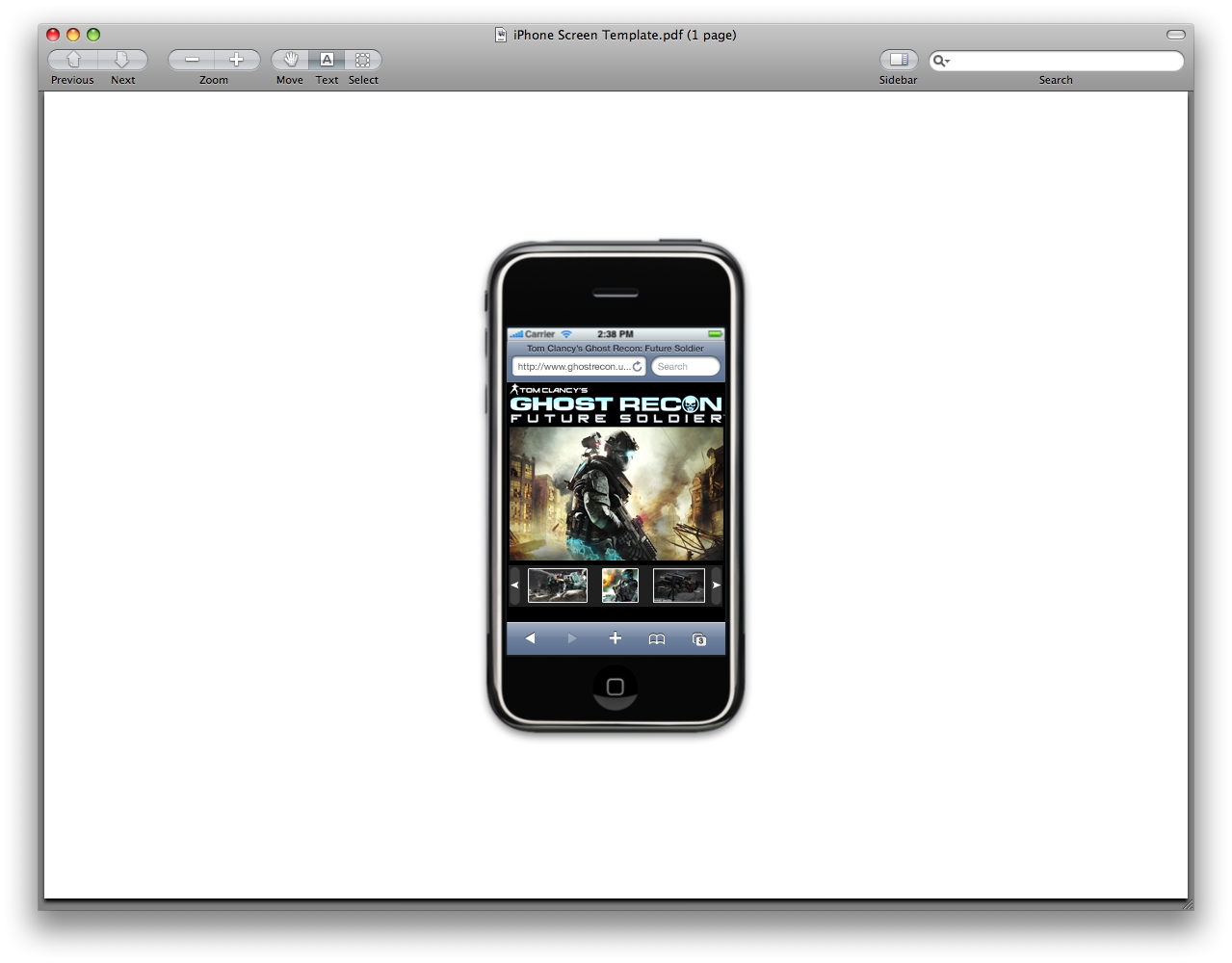 Gallery 91 Inc.: Iphone web page screen shots: Ubisoft version 2.0!