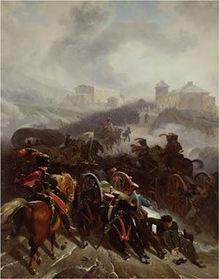 Nicolas Antoine TAUNAY. L'Armee française traverse les defiles de la Sierra de Guadrrama. Decembre 1808
