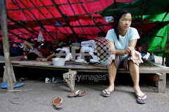 Chin Lady in Refugees Camp