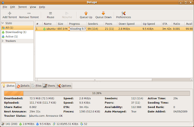 Review: Deluge 1.1.6 - Powerful BitTorrent Client for GNOME ...