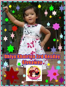 DHIYA KHAIRINA 3RD BESDAY GA