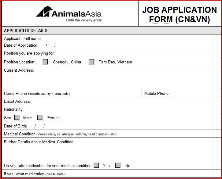 Job Application Letter Vet