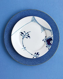 Blue Fluted Mega Bread And Butter Plate By Royal Copenhagen Blue Lace Dinner Plate By Mottahedeh