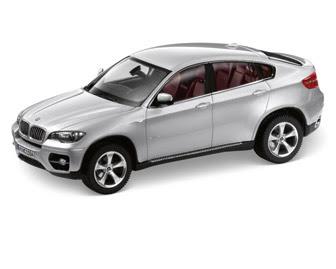 BMW X6 (E71) Silver miniature