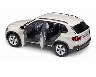 miniature BMW X5 white