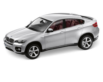 BMW X6 E71 Silver miniature