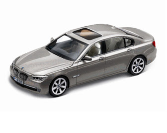 new BMW 750i Silver miniature