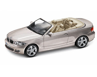 BMW 1 Series Convertible (E88) Silver miniature