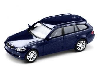 BMW 3 Series E91 blue miniature