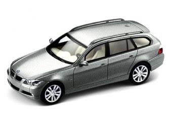 BMW 3 Series E91 silver miniature
