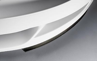 Front splitter in carbon for aerodynamic kit