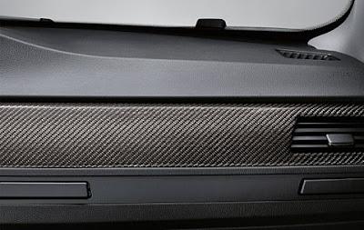 BMW Performance Interior trim strips in carbon