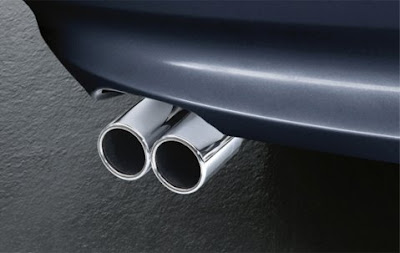 Exhaust pipe finisher in chrome BMW 3 Series