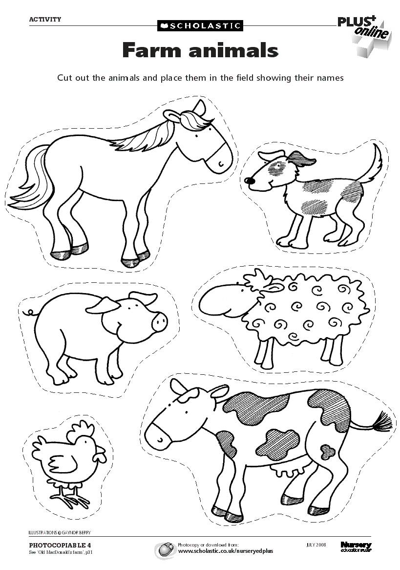 Luscious image regarding printable farm animals