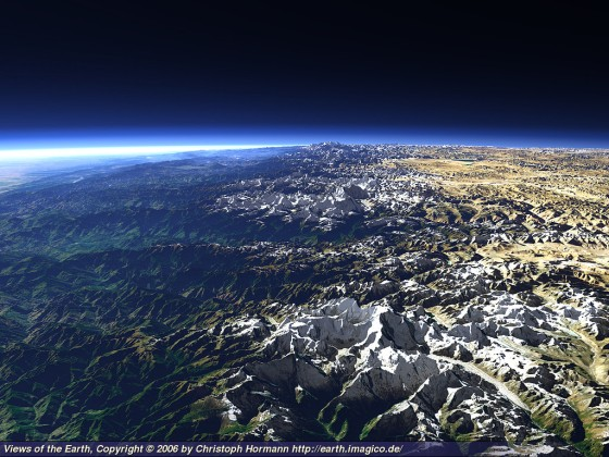 The Himalaya in Nepal - Views of the Earth