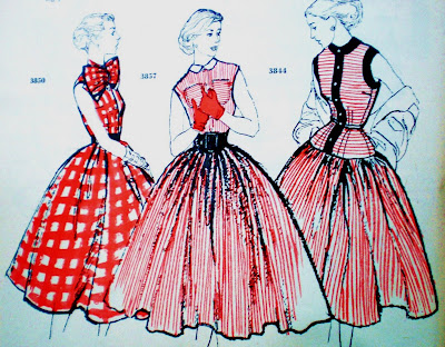 1950fashion Dress  on Pintucks  1950 S Fashion Illustrations