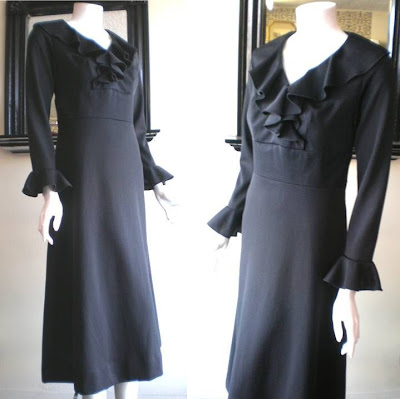 Long Black Dress on With This Version You Get The Pure Black Silhouette In