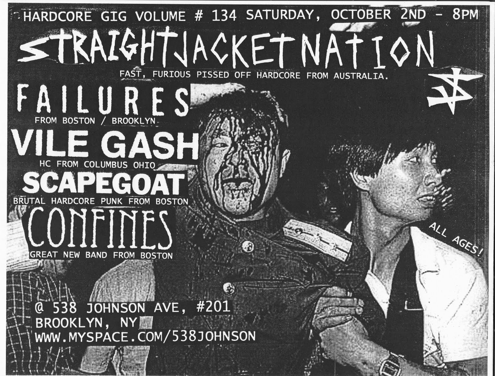Hardcore Gig Volume: STRAIGHTJACKET NATION VILE GASH FAILURES