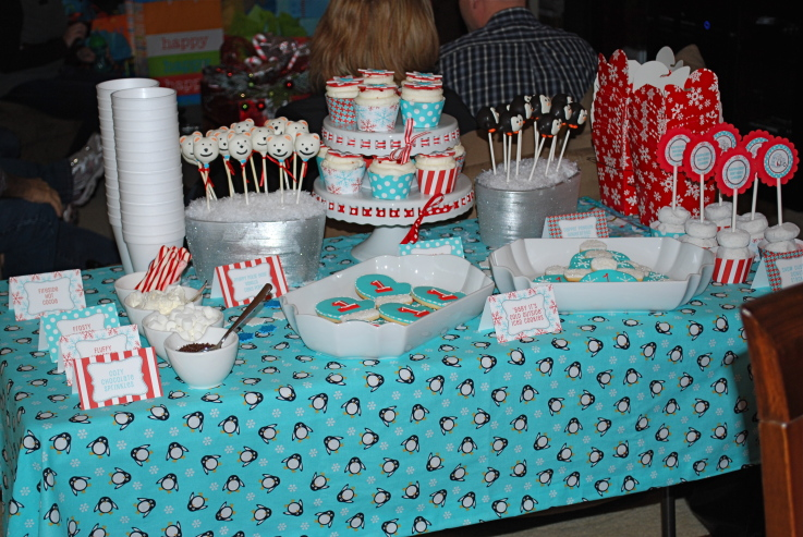 Winter onederland party a to zebra celebrations