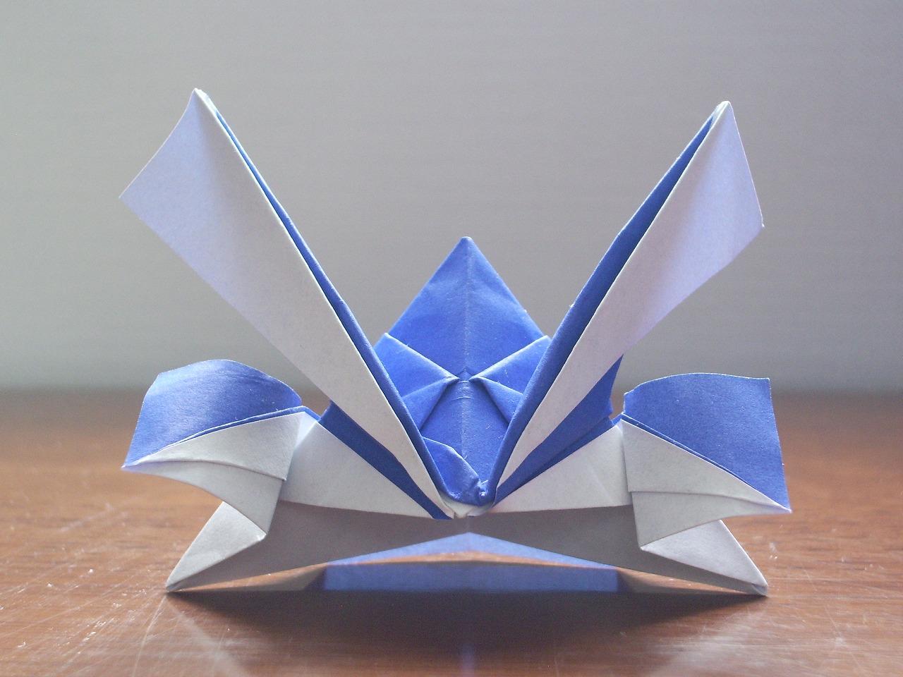 how to make a origami samurai helmet