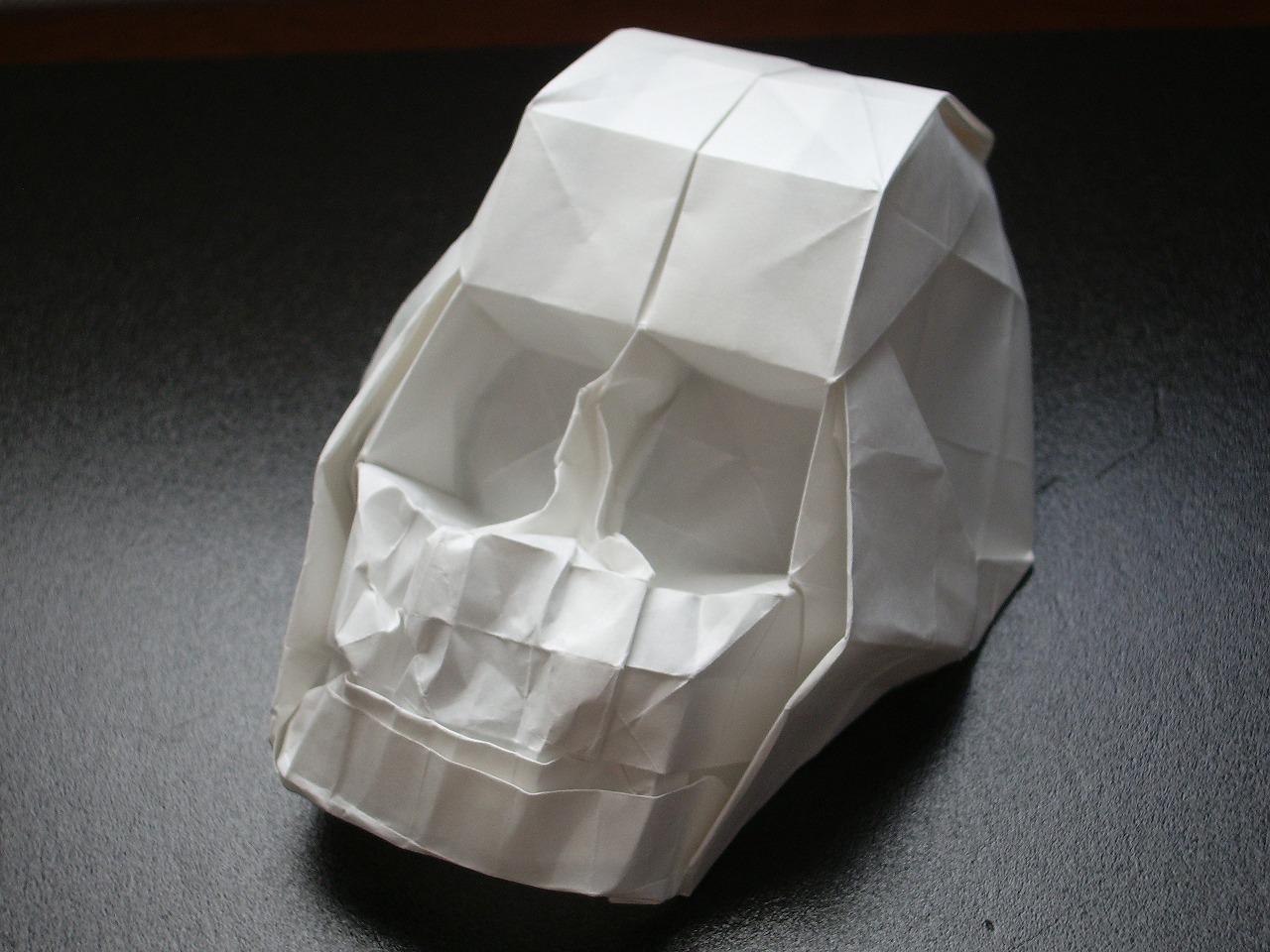 katakoto origami skull
