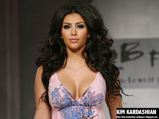 Kim Kardashian Volumen Hair Wallpaper