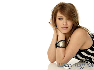 Hilary Duff Stripped Dress Wallpaper