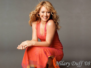 Hilary Duff Beauty Dress Wallpaper