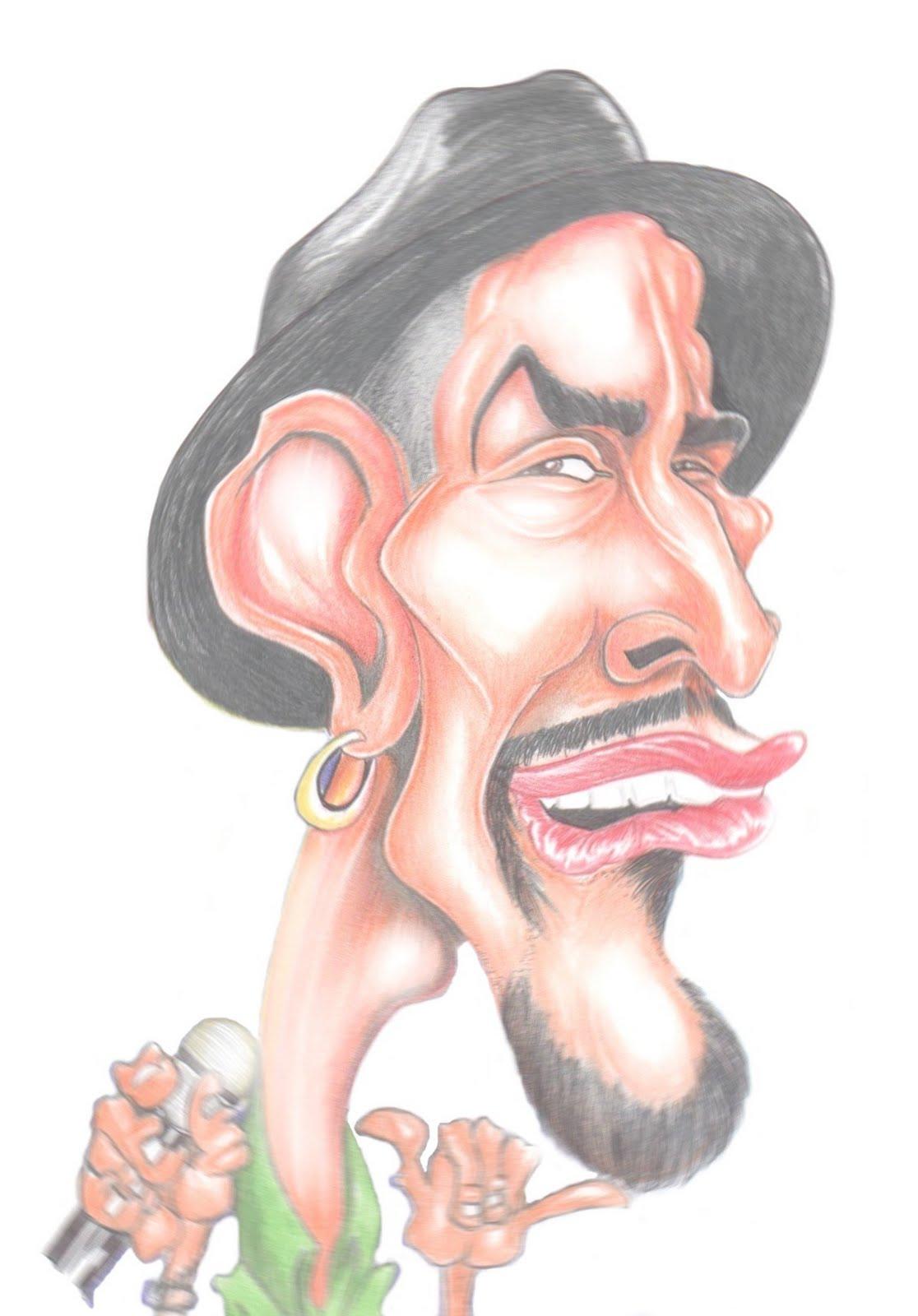 Caricaturas y dibujos de Cantantes Reggae.