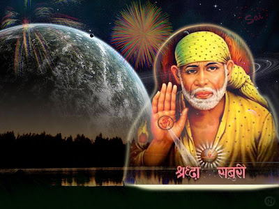 Sai Baba with eye catching