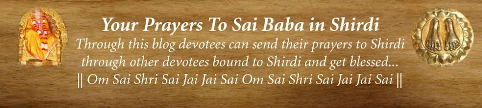 Your Prayers to Sai Baba in Shirdi
