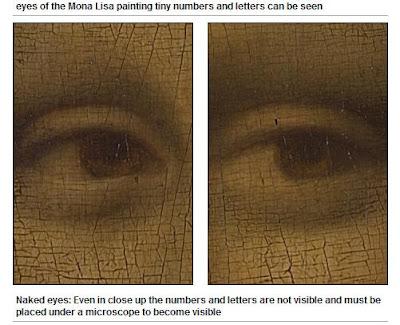 蒙娜麗莎眼中藏有神祕符號