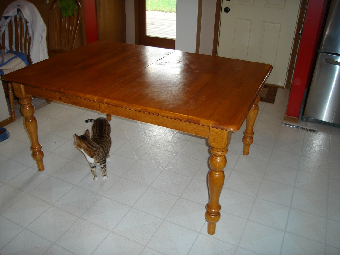 Better together refinishing a kitchen table - Refinished kitchen tables ...